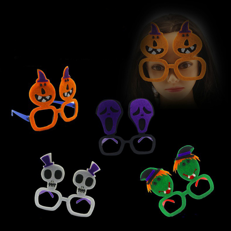 Halloween Ghost Glasses Kids Party Eyewear Trick Toys Prank Random Color