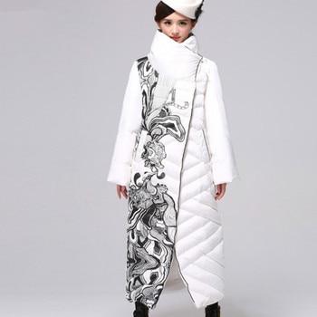 Loose Parka Plus Size 6XL Ukraine 2019 Thicker Puffer Jacket Women Tops White Duck Down Clothes  X-Long Winter Coat Female GL002
