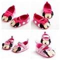 2017 Recién Nacidos de los Bebés Lindo Dulce Mary Jane Zapatos Niños de La Princesa Del Prewalker de Dibujos Animados Minnie Mouse Niños Zapatos Inferiores Suaves