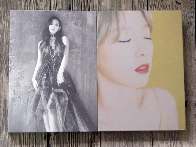 SNSD Taeyeon autographed signed First album My Voice CD+photobook+signed poster new korean 02.2017