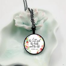 NEW Jesus Jewellry I am the way the truth and the life John 14:6 Christian Quote Necklace Bible Verse Pendant Necklace Gifts john f hunter living the christian life are you ready for a supernatural and spiritual life with jesus