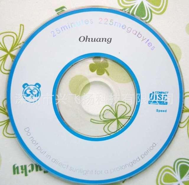 Bán buôn 10 đĩa Ít Hơn 0.3% Tỷ Lệ Khuyết Tật 225 mb 8 cm Lớp MỘT Mini Trống In Ghi CD-R Đĩa