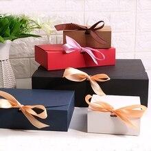 Подарочные коробки с лентой, свадебные подарочные коробки, подарочные коробки для детского душа, подарочные коробки для вечеринок 20 шт./лот