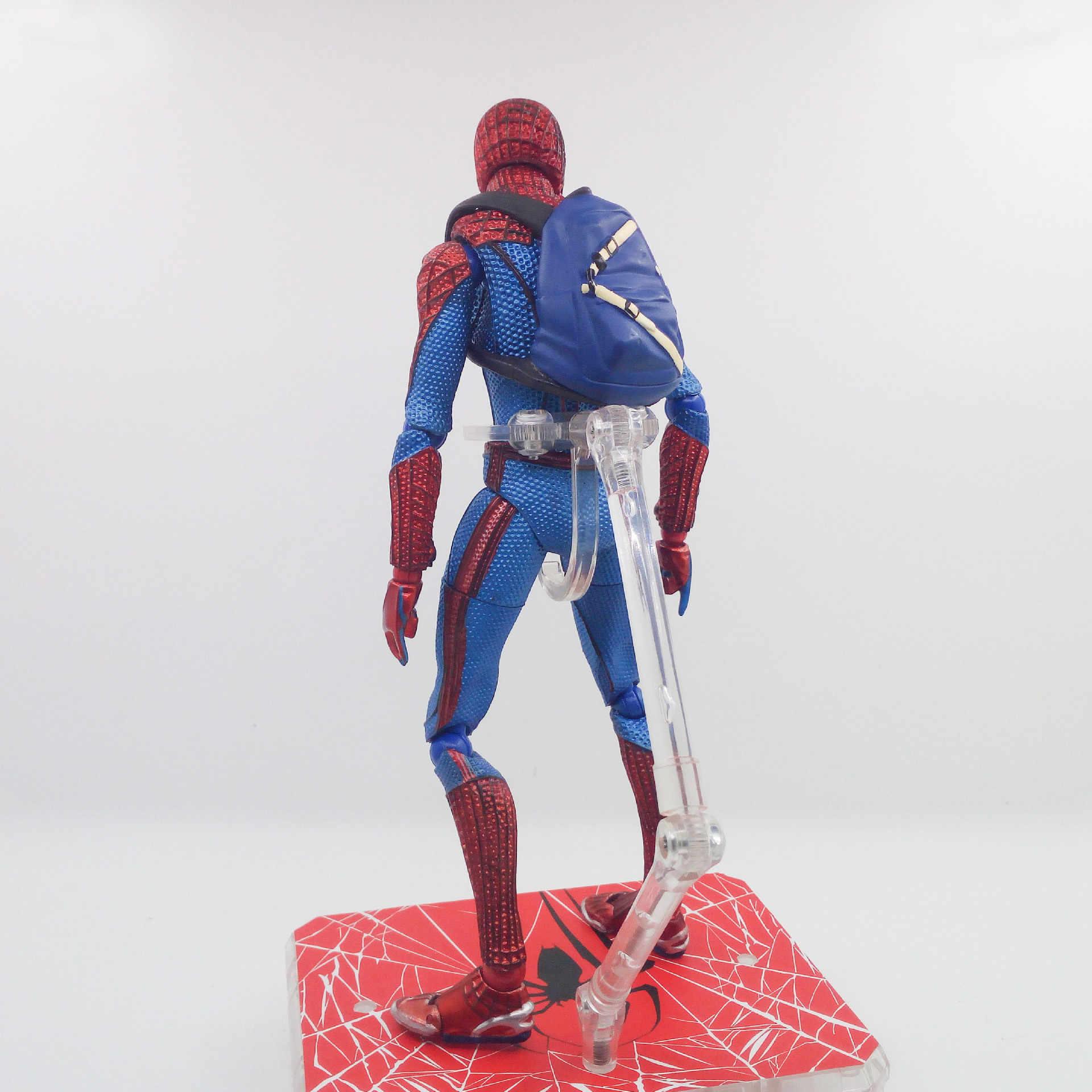 Alta qualidade anime figma figura de ação do homem aranha figura O avanger altifalante melhor crianças brinquedos para meninos
