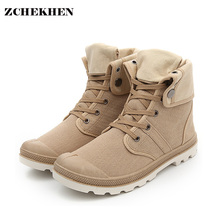 Hip-hop Desert Style Fashion Autumn High-top Military Ankle Boots Comfortable Canvas Vulcanized Shoe Tactical Boots Big Size 46