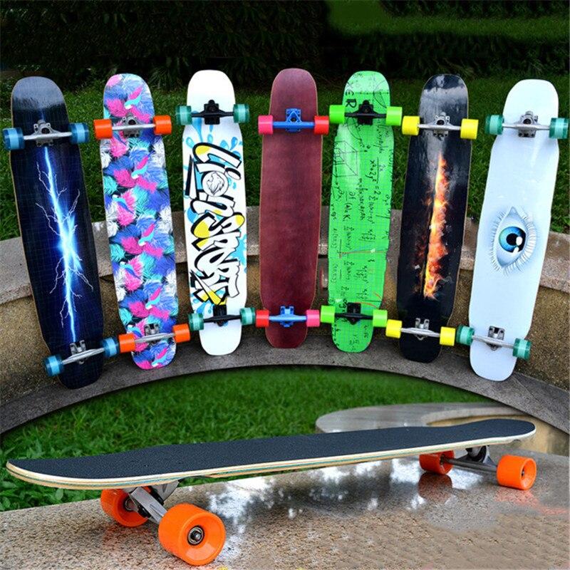 Érable canadien Complet Skate Longboard Pont Adultes Planche À Roulettes Descente Freestyle Rue Danse Longboard Cruiser 4 Roues