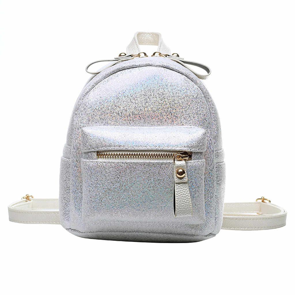 Летний модный женский Блестящий маленький рюкзак на молнии, мини-рюкзаки для девочек 2019, mochila bolsa feminina