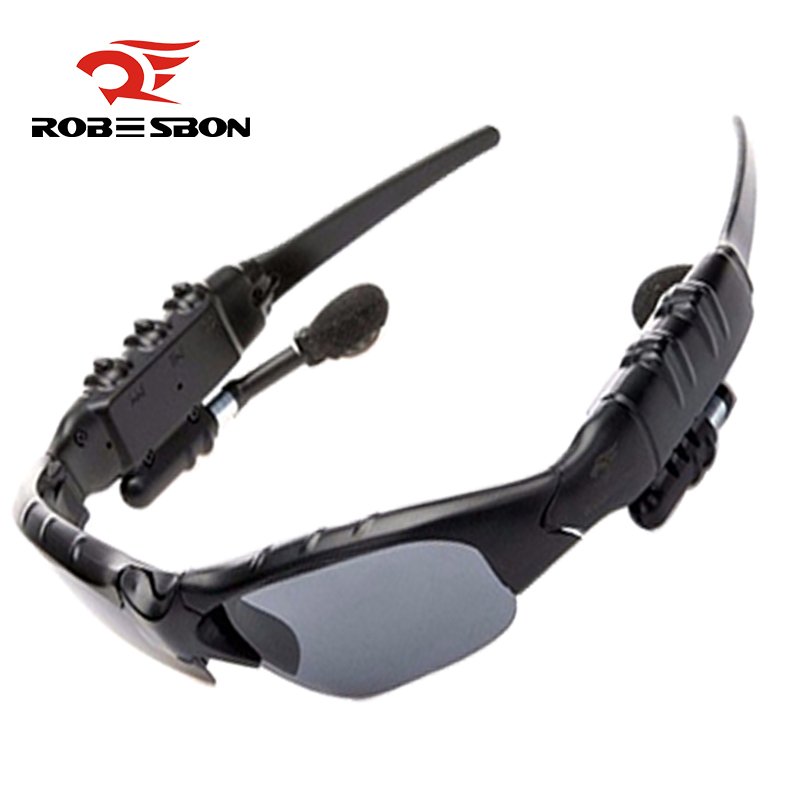 ROBESBON Bluetooth Cycling Glasses Polarized Outdoor Sports Motorcycling Sunglasses MP3 Phone Bike Bicycle Glasses Sunglasses obaolay outdoor cycling sunglasses polarized bike glasses 5 lenses mountain bicycle uv400 goggles mtb sports eyewear for unisex