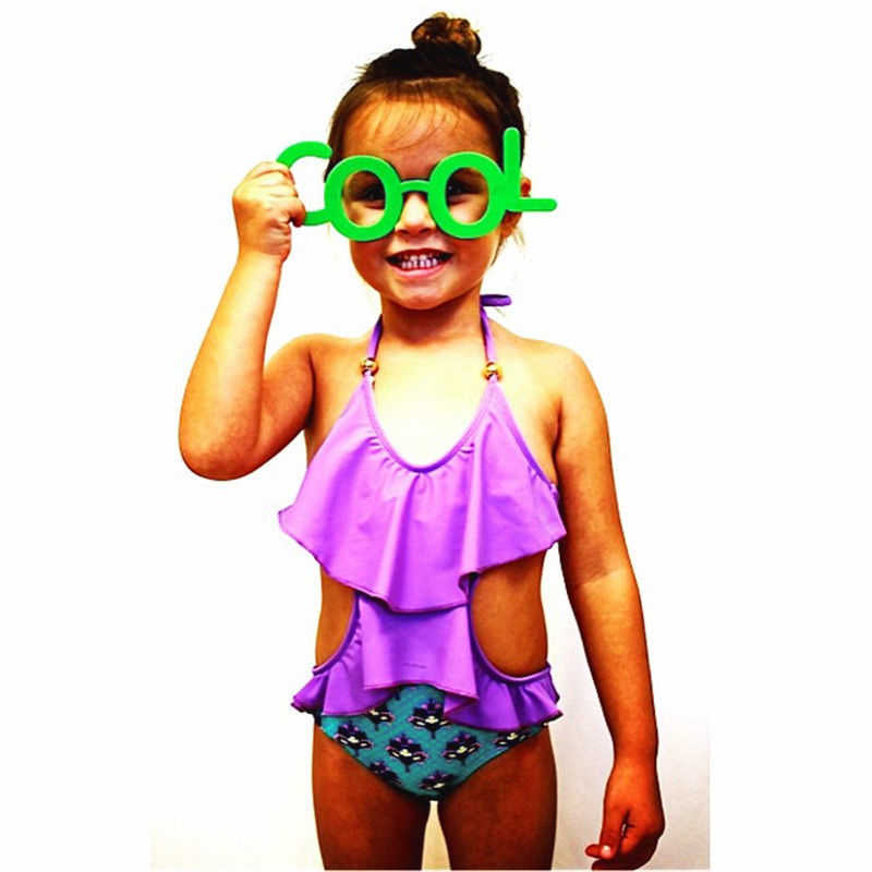 84689f1910c54 ... 2017 Toddler Kid Baby Girls Bikini Set Floral Swimwear Swimsuit  Monokini Bathing Suit Swimsuit Low Back ...
