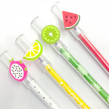 3X Small Dragon Fruit Kiwi Watermelon Lemon Erasable Gel Pen Rollerball Pen School Supply Student Stationery Blue Ink 0.4mm(China)