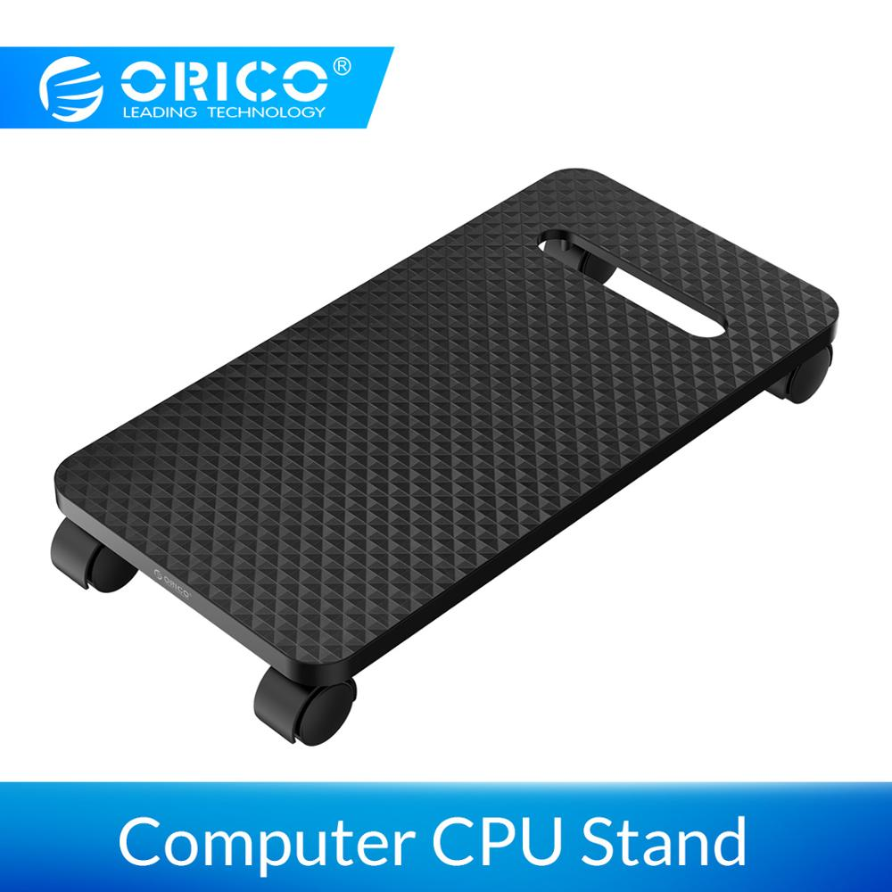 ORICO ABS Computer CPU Stand With Wheels For Computer Cases PC Towers Waterproof CPU Holder Black