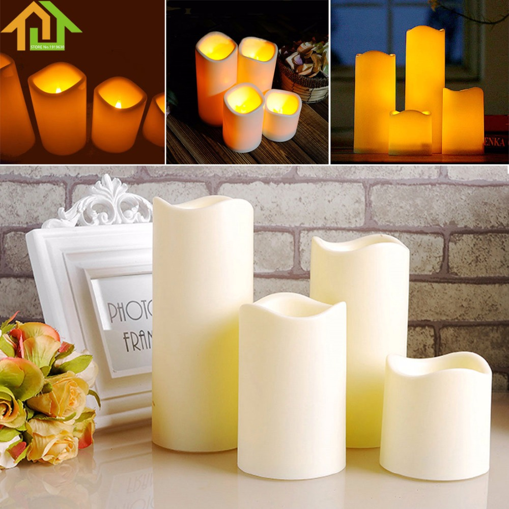 1 Pcs Cylindrical Flickering LED Candle Light Flameless ForGarden Yard / Christmas Lamp Decoration