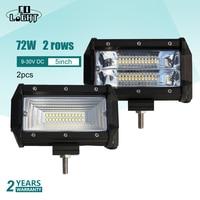 CO LIGHT Off Road Led Auto 72W Work Light 5 Inch Fog Lights Led 12 Volt 10 30V For Motorcycle Lada Niva ATV E46 Tractor 4X4 VAZ