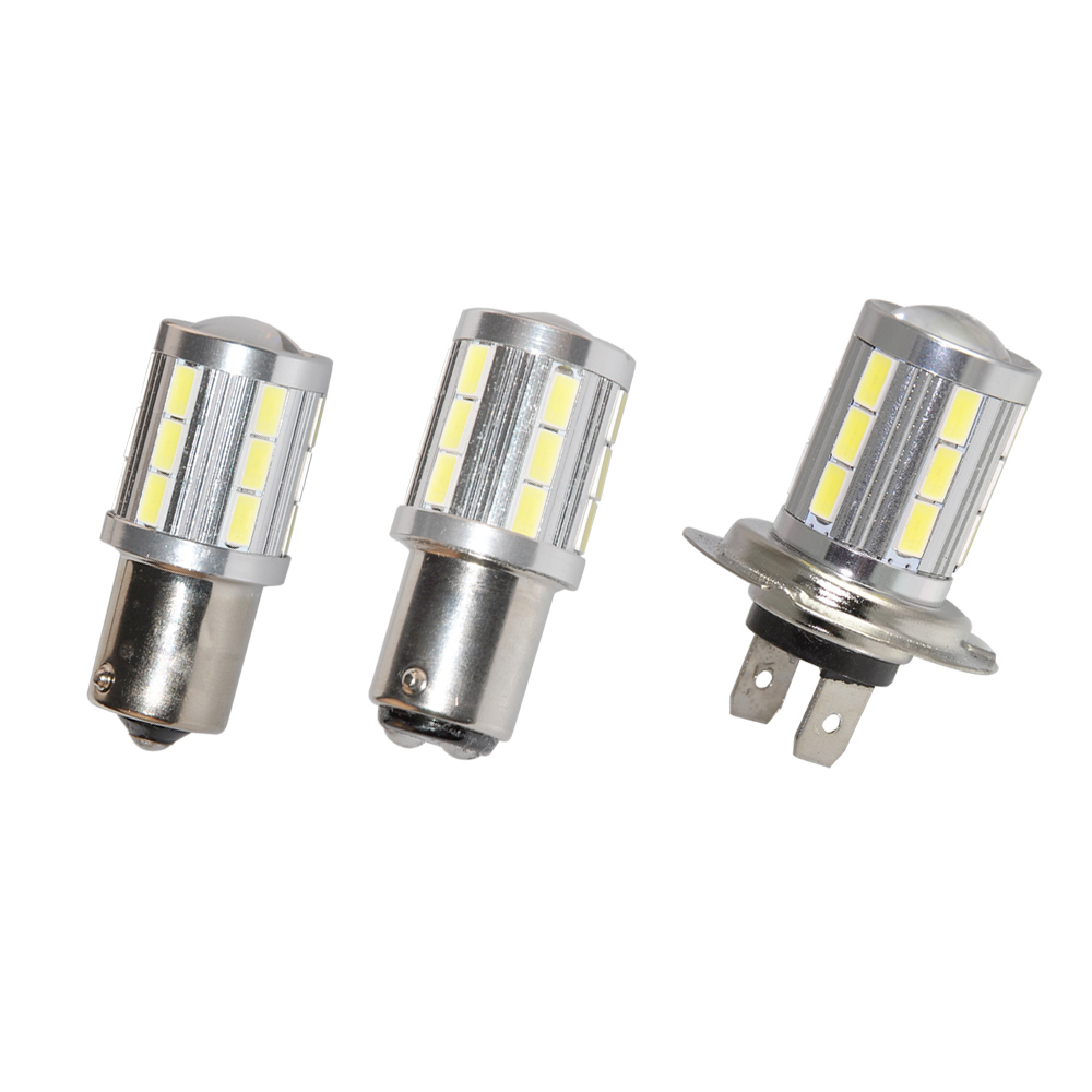 2pcs Bright 1156 1157 H7 21 LED 5730 SMD Bulb Light White Warm White 12-30V Brake Tail Lamp Car Backup Light