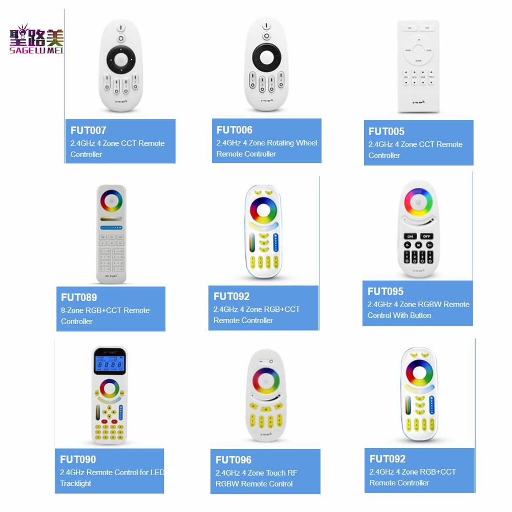 Free shipping Milight 2.4GHZ 4 zone RF RGB+CCT CCT RGBW LED Remote controller use with Mi Light series led controller lamp bulb image