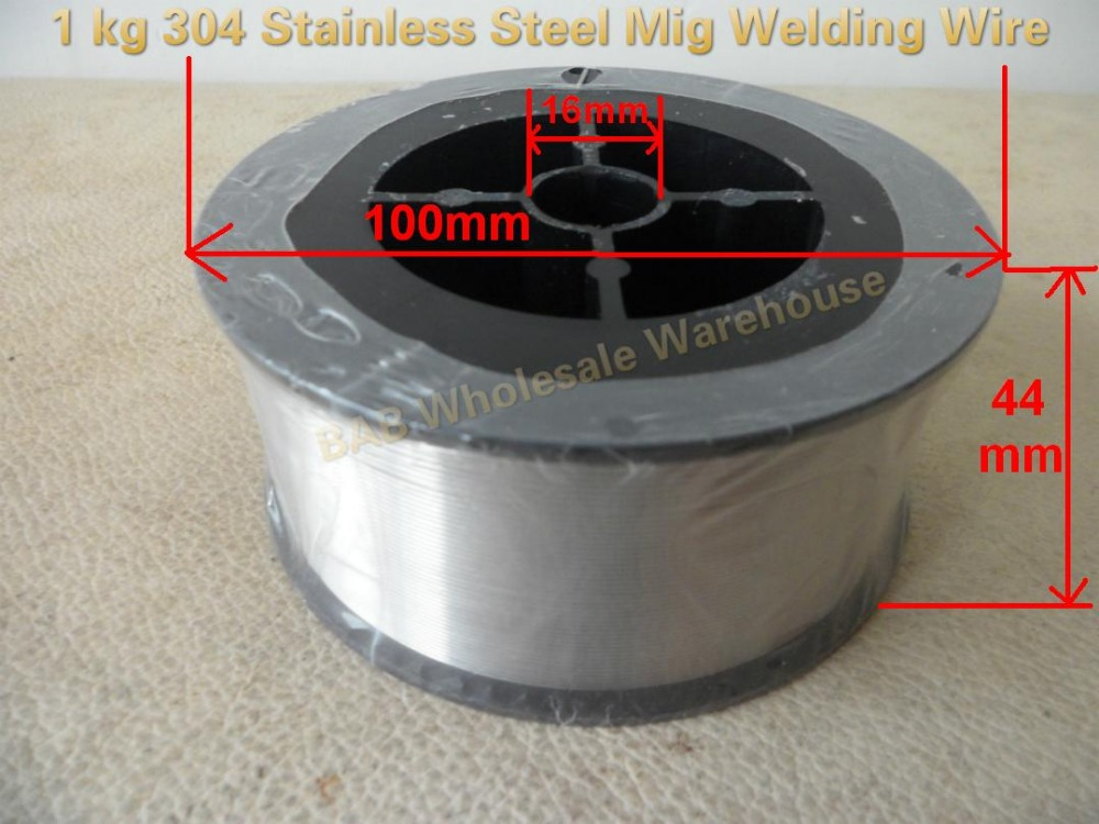 1 Roll 1kg 0 035inch ER304 Stainless Steel Mig Welding Wire used for the household manual handle welding machine
