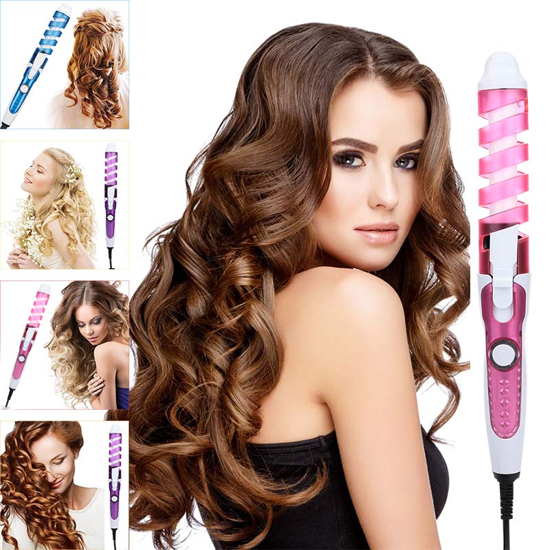 Portable Hair Curler Roller Spiral Curling Iron Salon Electric Hair Curler Beauty Curling Wand Professional Hair Styler Beauty S