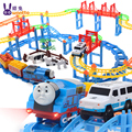 Juguetes Cars Pixar Chuggington Thomas And Friends Electric Set With Rail Toys Musical Flash Slot Children Boy Birthday Gift