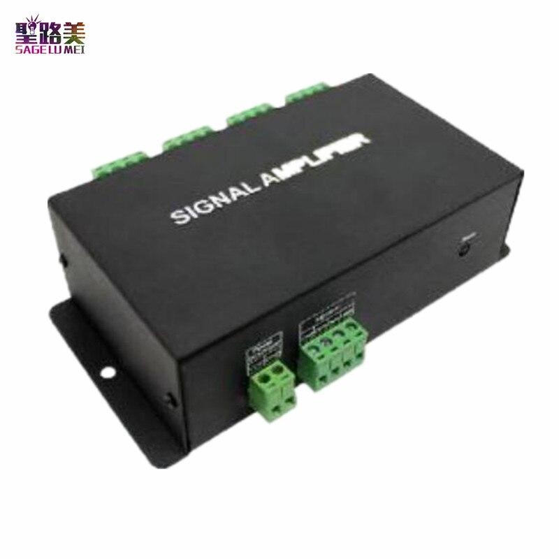 HC800 DC12V 24V 8 channels 8CH SPI TTL signal synchronizer LED amplifier 8 ports output for dream color pixel led strip light h803sc led sd pixel music controller spi ttl signal output 4096 pixels controlled