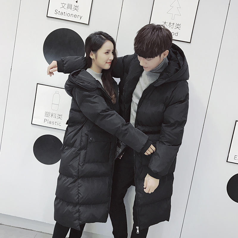 winter   down     coat   2018 for man and woman hooded jacket long design warm parka outwear couple clothing