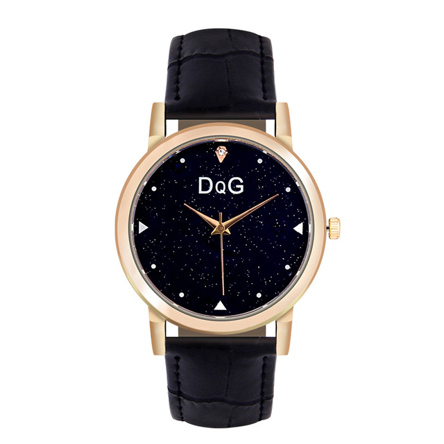 2018 New DQG Luxury brands Fashion Star Dial Leather Ladies Quartz Watch Women Outdoor Sport Dress Chasy Relogio feminino