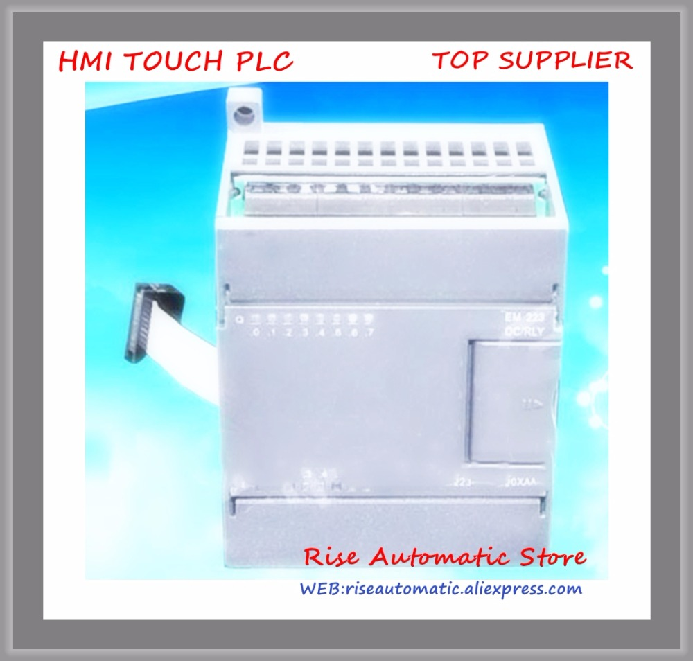 EM223T-I8TQ8 compatible avec s7-200 remplacer 6ES7223-1BH22-0XA0 8 entrée 8 transistor sortie PLC commutateur module d'extension nouveau