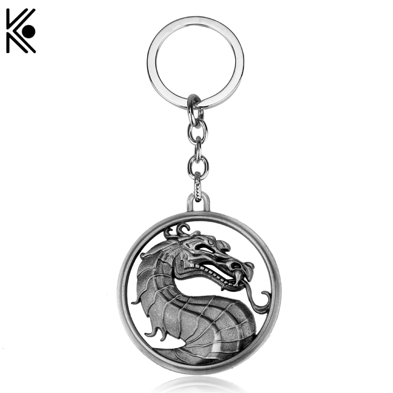 Gragon Keychain Hot Game Mortal Kombat Key Ring Metal Key Holder For Gift Chaveiro Key chain Jewelry for cars ...