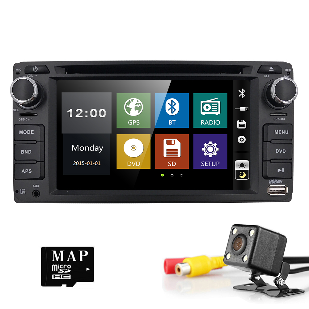 Hizpo GPS Navigation 6.2 Inch 2 din car radio gps Car DVD Player For Toyota/Corolla Old Series Bluetooth GPS Radio SWC rear cam