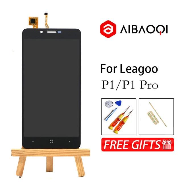 AiBaoQi nowy oryginalny 5.0 Cal dotykowy ekran + 1280x720 wymiana montaż wyświetlacza LCD dla Leagoo P1/P1 Pro telefon