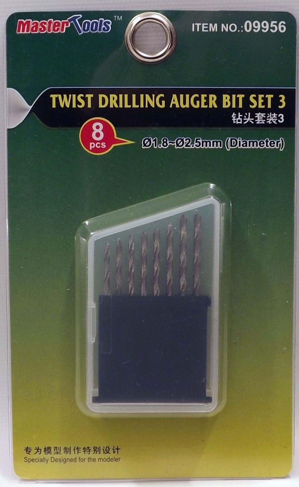 Trumpeter 09956 Master Tools Twist Drilling Auger Bit Set 3 Model DIY Tools