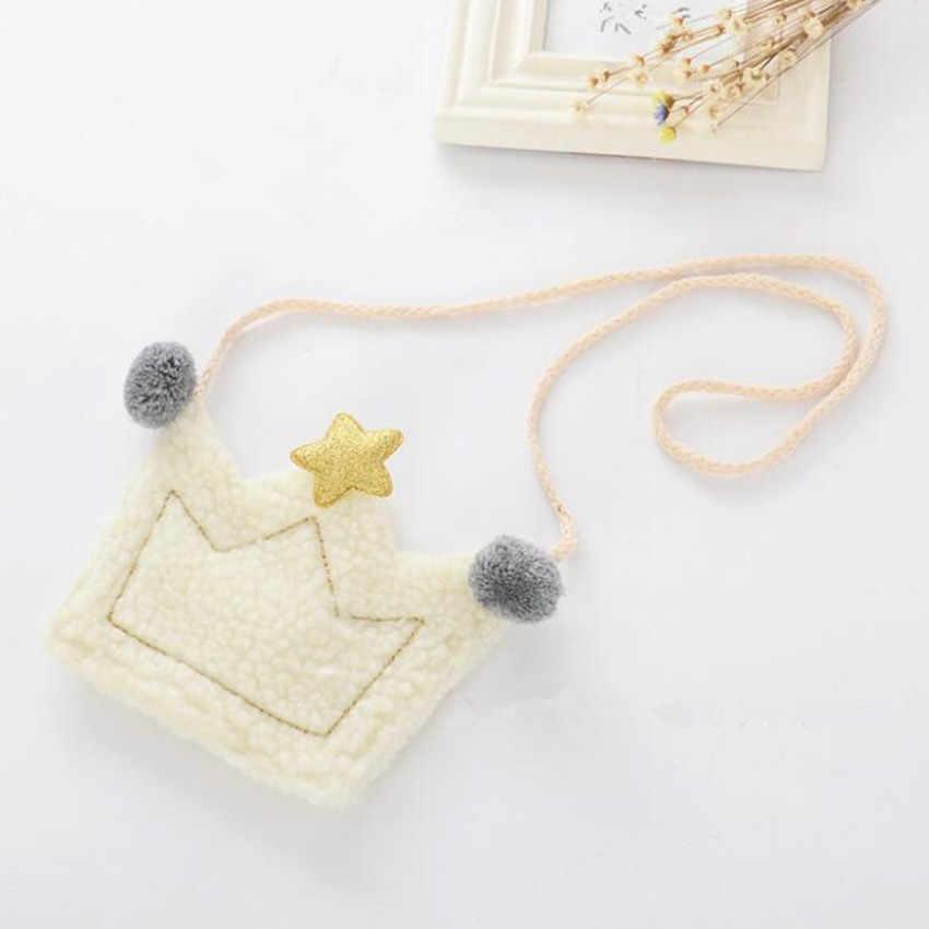 Bolso pequeño con forma de corona para niños con dibujos animados M482