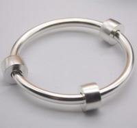 New Arrival Pure S999 Sterling Silver Bracelet Women Glaze Refil Bangle 23.5 24g