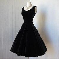 Черные бархатные вечерние платья с открытой спиной маленькие черные платья винтажное платье из Дубая без рукавов с бантом плюс размер цель