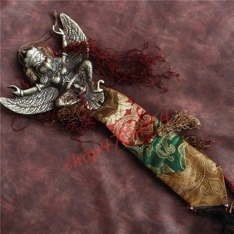 純粋な銅、ネパールフォーク手作り、ゴールデン翼ロック鳥のペンダント、手工芸品、コレクション