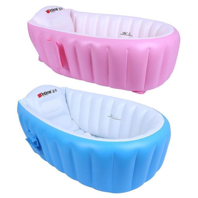 Newborn Baby Bathtub Inflatable Thickening Kids Bathroom Shower ...