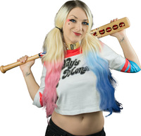 Girls Fashion Movie Suicide Squad Harley Quinn Short T Shirt Harley Same Design Top Tee Shirt