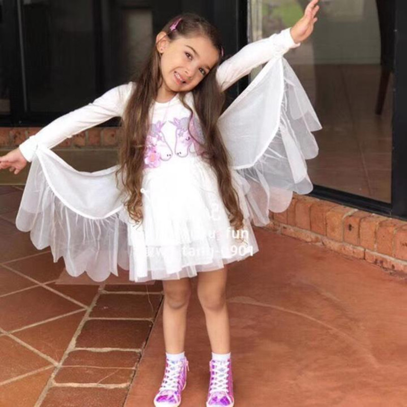 Spring Kids Unicorn Dress for Baby Girls Angle Wings Princess Dresses for  Party  Christmas Halloween Unicorn CostumesSpring Kids Unicorn Dress for Baby Girls Angle Wings Princess Dresses for  Party  Christmas Halloween Unicorn Costumes