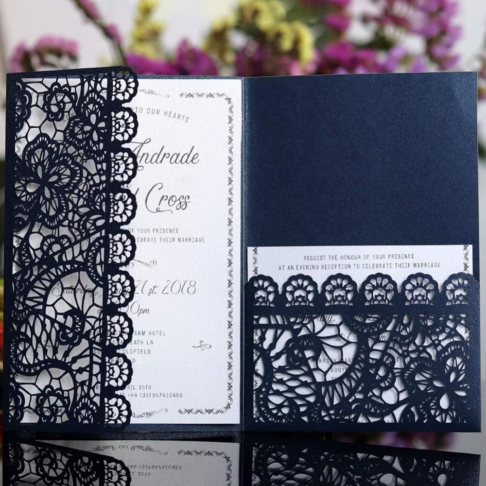 Wedding Invitations Business: 10PCS European Style New Laser Cut Wedding Invitations