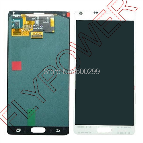 For Samsung For Galaxy Note 4 N9100 LCD Screen Display with Touch Screen Digitizer Assembly by free shipping;100% warranty;White