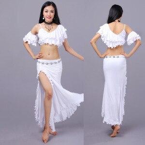 Image 3 - セクシーな東部オリエンタルベリーダンス衣装カール作物トップス女性ベリーダンスの服ベリーダンサー服着用