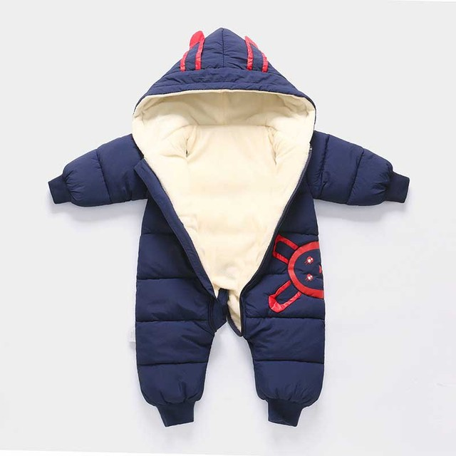 20c0eaed4 BibiCola newborn baby rompers winter infant bebe boys girls thick warm  rompers jumpsuit clothes hooded velvet baby showsuit