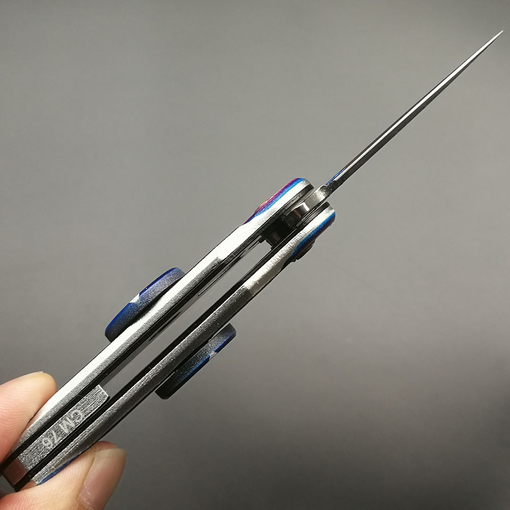 Купить с кэшбэком DuoClang Hand Spinner & Folding Knife 3D Printing Color Blade 440 Steel Knives Finger Spinner Metal Toy Hot Freeshipping