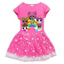 f7354a26258 Kids Cartoon Dress 2018 Baby Girls Masha And The Bear Tutu Party Dresses  Cute Short Sleeve
