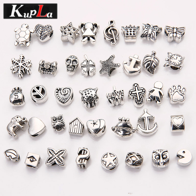 Vintage Metal Beads Fit Pandora Charms Fashion Diy Accessories Hole For Bracelets Jewelry
