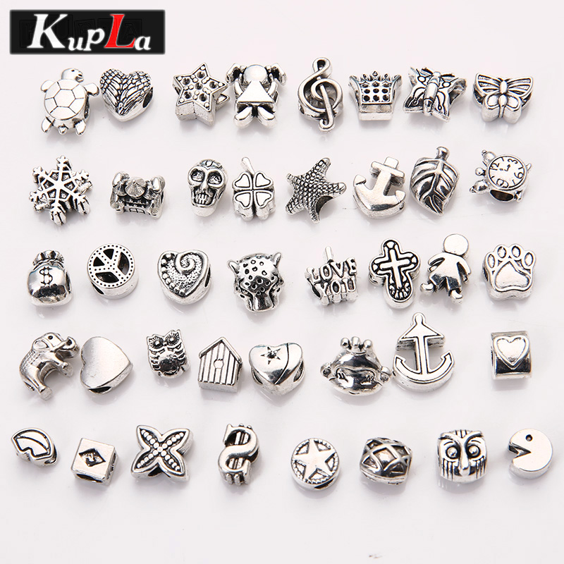 Shop Pandora Jewelry Online: Vintage Metal Mixed Beads Fit Pandora Fashion DIY