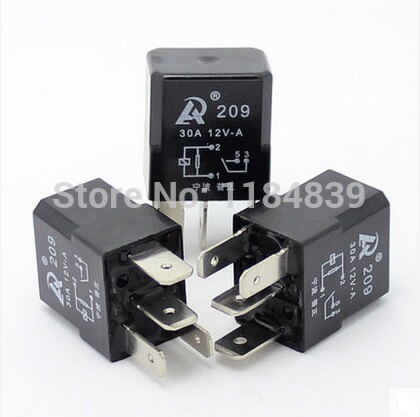 5pcs /lot Automotive Relay 12V 30A 4 feet normally open water pump with fog waterproof integrated automotive relay 12v 4 feet 40a normally open with a line containing a socket