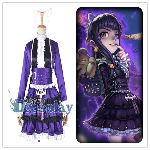 LOL Champions Annie Lolita Dress Cosplay Costume