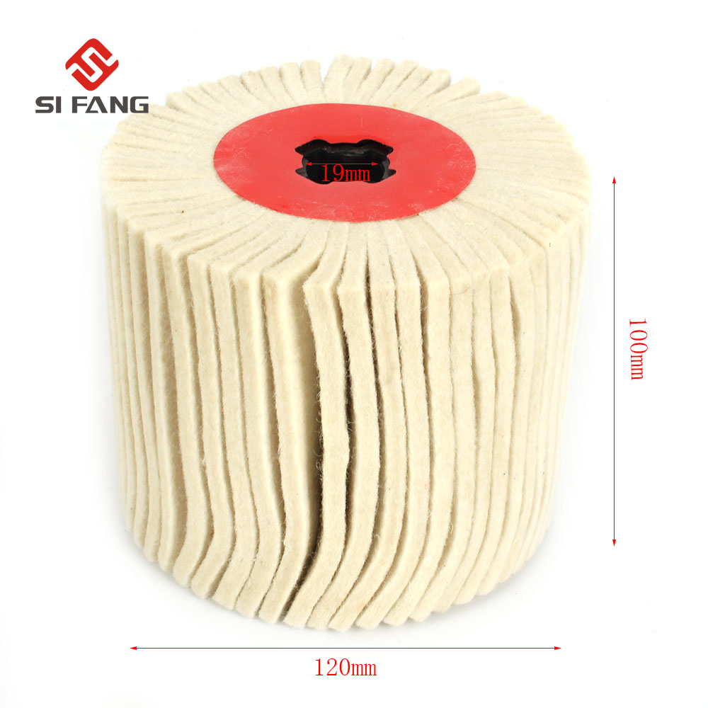 100mm Drum Wool Polishing Wheel Cross-core Wool Drawing Round Woolen Felt Wheel For Stainless Wire Drawing Mirror Polishing