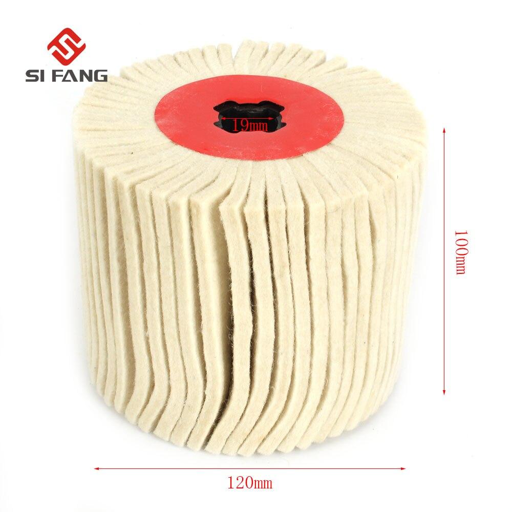100mm Drum Wool Polishing Wheel Cross-core Wool Drawing Round Woolen Felt Wheel For Stainless Wire Drawing Mirror Polishing