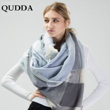 3700e23b1518 QUDDA 2018 Nouvelle Mode Automne Hiver Chaud Écharpe Femelle Plaid  Couverture Hijab Femmes Foulards Châle Dames Écharpe Bandana .